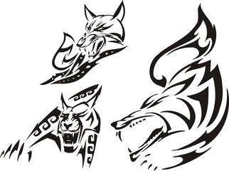 Fox, lynx and wolf. Tribal predators.