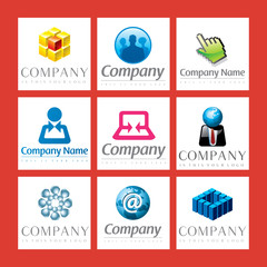 vector logos network and mailing
