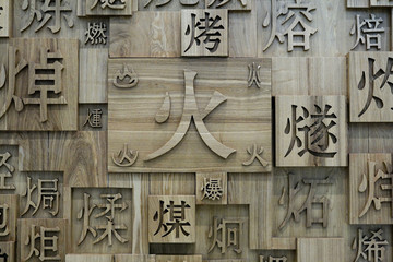 Chinese characters fire