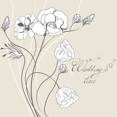 Template for wedding invitation