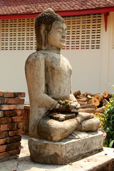 molded figure in temple of Thailand