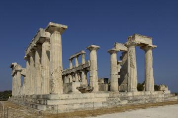 Grèce, le temple d'Aphaïa à Egine