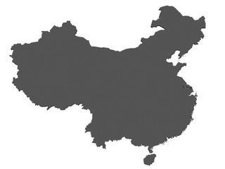 Karte von China - freigestellt