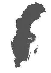 Karte von Schweden - freigestellt