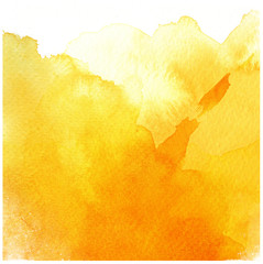 great yellow watercolor background