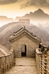 Fotobehang Chinese Muur Grande muraille de Chine - Great wall of China, Mutianyu