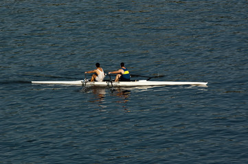 Rowing scull