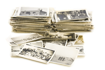 pile of vintage photos