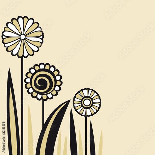tarjeta con flores y hojas Imgenes de archivo y vectores libres