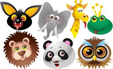 Animali Giungla Selvaggi-Jungle and Wild Animals-Cartoon-Vector