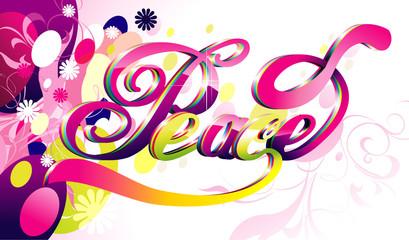 Peace word vector