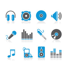 simple blue audio icons