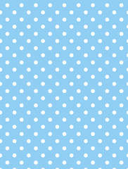 Jpg. Blue Background with White Polka Dots