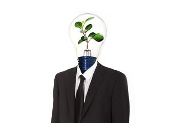 Green energy symbol