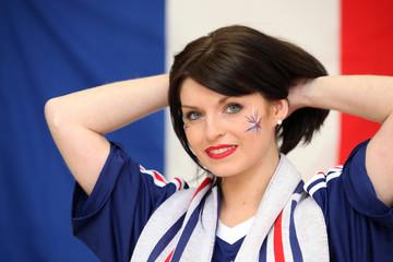 Supportrice de l'équipe de France