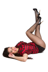 Smiling Pinup Woman