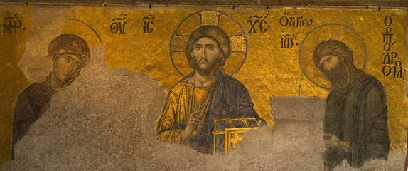 Deesis-Mosaik 12. Jahrhundert