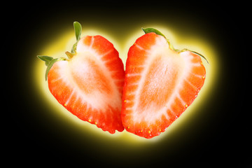 herz,erdbeeren