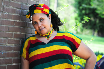 African girl with Ethiopian costume