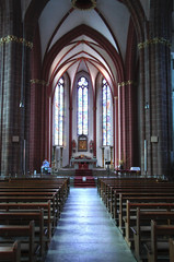 Indoor Christian Church With Lights