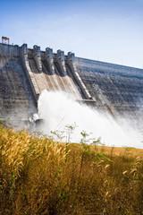 Aluminium Prints Dam Large cement dam in Thailand.