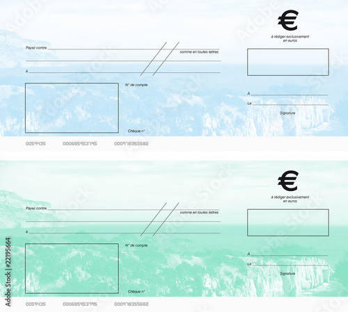 cheques vert et bleu photo libre de droits sur la banque d 39 images image 22195664. Black Bedroom Furniture Sets. Home Design Ideas