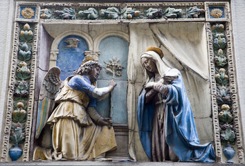 Florence - relief of Annunciation