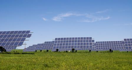 Solar panels in the field in Spain