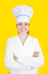 cook girl in toque