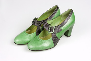 green pair of shoes