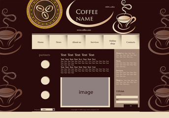 vector illustration coffee website template