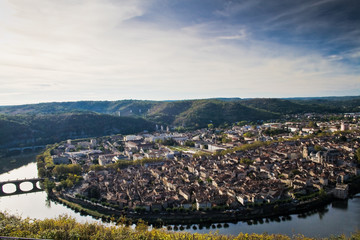Cahors (46) - Vue panoramique depuis le Mont Saint Cyr