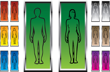 man and woman silhouette in vector format
