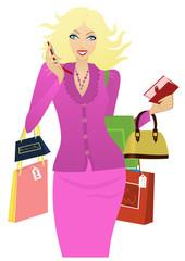 Stylish girl shopping