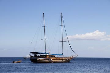 sailing ship on Mediterranean sea