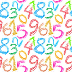 Crayon numbers seamless