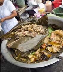 street food beef with yucca vegetables stew  leon nicaragua