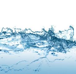 Blue water.