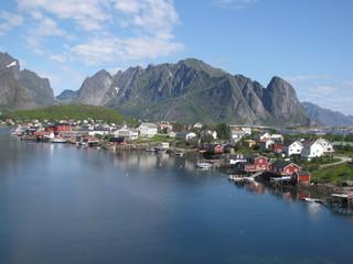 Garden Poster Scandinavia Reine fishing village
