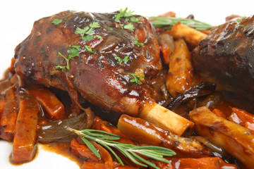Roast Lamb Shanks with Vegetables