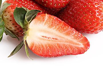 Sliced strawberry closeup