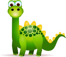 Cute green dinosaurs cartoon