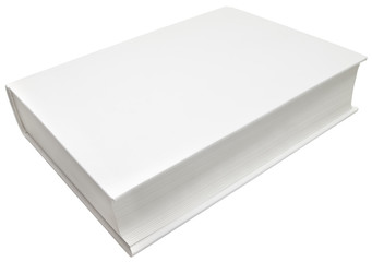 Blank cover isolated with clipping path