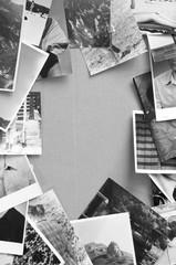 Vintage photos frame.