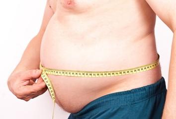 Fat men profile with measure