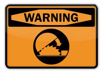 "Warning Sign ""Circular Saw"""