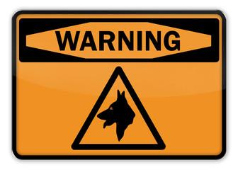 "Warning Sign ""Dog"""