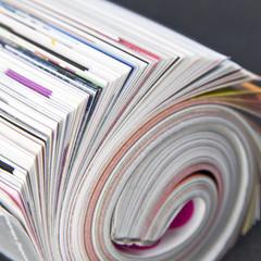 Rolled up magazine