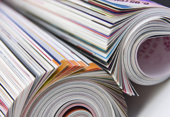 Rolled up magazines