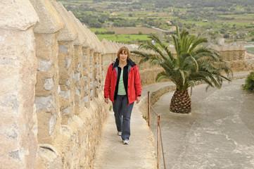 Mauer der Kirche Sant Salvador in Arta, Mallorca
